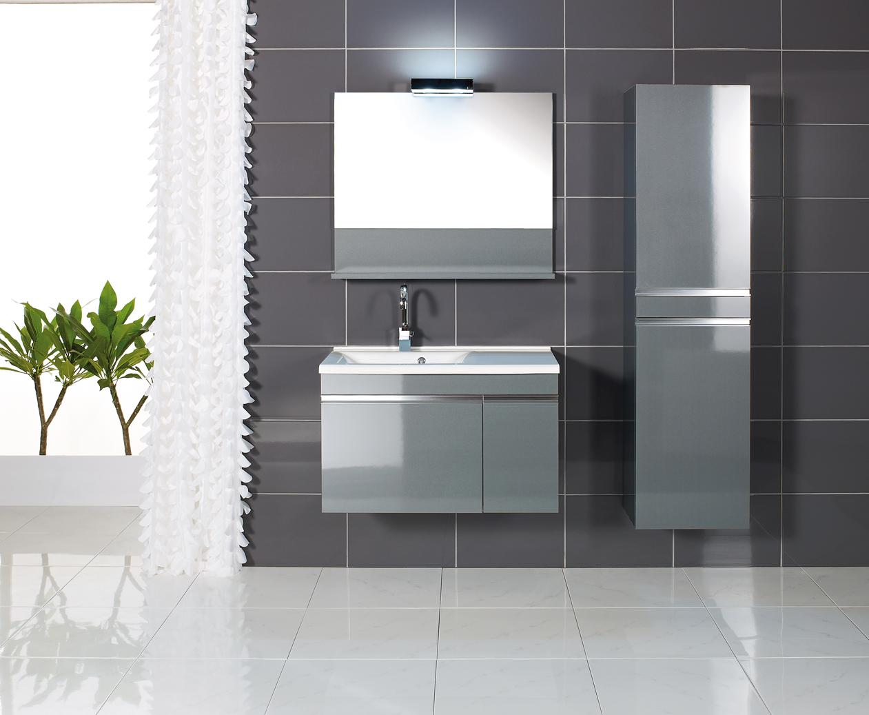 Meubles tendances duc carrelages et bains for Salle de bain meuble gris