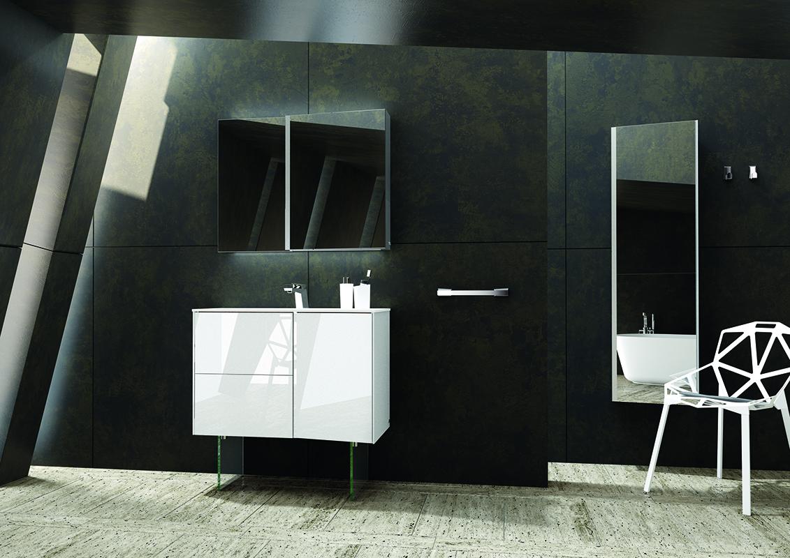 Salle de bain moderne avec mosaique for Carrelage salle de bains tendance